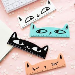 15 cm świeże cukierki kolor Cute Cat drewniane do pomiaru linijki linijka prosta narzędzie upominek promocyjny papiernicze