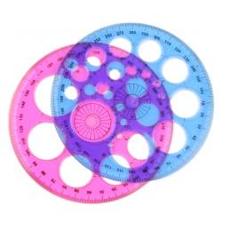 1 Pc nowy okrągły plastikowa linijka szablon koło Patchwork stóp 360 stopni władców dla studentów prezent do biura i szkoły