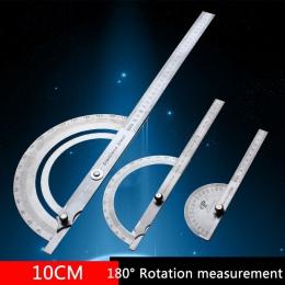 Ze stali nierdzewnej okrągłe głowy 180 stopni kątomierz celownik kątowy obrotowy linijka miernicza mechanik narzędzie 10 cm rzem