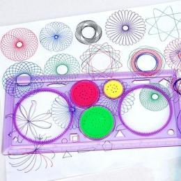 1 sztuk spirometr geometryczne władca nauka rysunek narzędzie przybory piśmiennicze dla uczniów zestaw do rysowania kreatywny pr