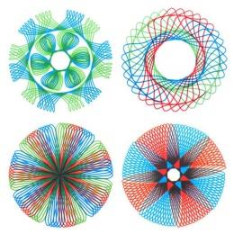Kreatywny cztery kolor magiczna deska kreślarska wielofunkcyjny rysunek szablon linijka Student edukacja biurowe ciągle się zmie
