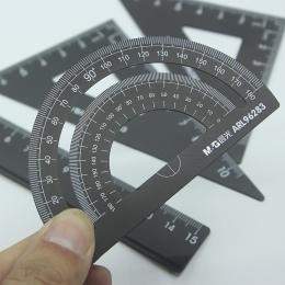 4 sztuk/zestaw nowa aluminiowa linijka aluminium kątomierz studenci matematyka geometria metalowe piśmienne władca zestaw biuro