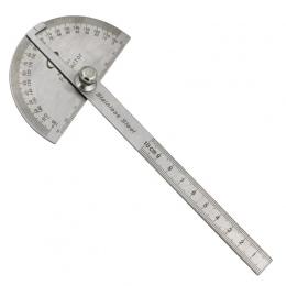 Ze stali nierdzewnej kątomierz celownik kątowy Arm pomiarowe okrągłe głowy ogólne narzędzie rzemieślnik władca rzemieślnik gonio
