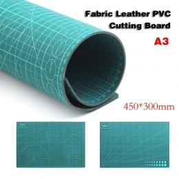 A3 samonaprawiania pcv mata do cięcia tkaniny skórzany papier Craft narzędzia DIY dwustronna deska do krojenia