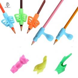 8 sztuk/zestaw dzieci pojemnik na ołówki korekta trzymać długopis pisanie Grip postawy narzędzie pasuje do dla prawej i lewej rę