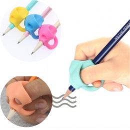 3 zestawy do pisania dla dzieci w wieku przedszkolnym początkujących naprawczych uchwyt długopis silikonowy pisania pomóc oprawa
