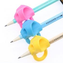 3 sztuk/zestaw piórnik dziecięcy pisania korektor długopis silikonowy pisania pomóc urządzenie uchwytów na właściwy telefon pozy