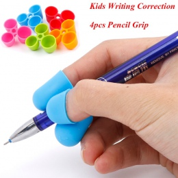 4 sztuk/zestaw uchwyt do trzymania ołówka ergonomiczna pisanie pomoc dla dzieci nauka trzymać długopis pisanie postawy prawidłow