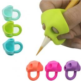 3 pc magiczny uchwyt ołówek pomóc początkującym pisanie silikonowe zabawki dla niemowląt podwójne kciuk postawy korektor narzędz