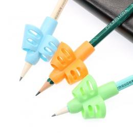 3 sztuk/zestaw nietoksyczny dzieci ołówek i uchwyt na długopis pomóc długopis korekcja postawy narzędzia biuro szkolne bezpośred