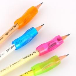 4 sztuk Partner edukacyjny dla dzieci studenci piśmienne ołówek do trzymania w ręku urządzenie do korygowania Pen Holder postawy