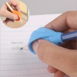 1 pc dzieci uczący się partnerzy, ołówek pisanie długopis podwójny uchwyt na palec silikonowe pomóc urządzenie uchwytów na właśc