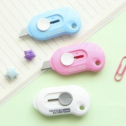 1 Pc śliczne jednolity kolor Mini przenośne narzędzie nóż do cięcia papieru do cięcia papieru żyletka materiały biurowe Escolar