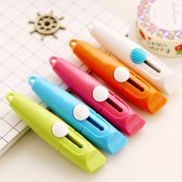 Mini narzędzie słodki cukierek kolor przenośny nóż do cięcia papieru do cięcia papieru żyletka kreatywne artykuły gospodarstwa d