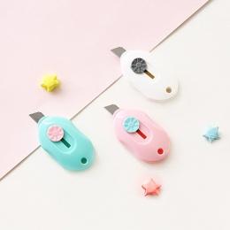 Słodkie cukierki kolor Mini przenośne narzędzie nóż nóż do papieru do cięcia papieru żyletka materiały biurowe przybory szkolne