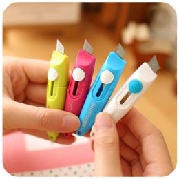 Deli Mini kolorowe narzędzie nóż kieszonkowy chowany PAPIEROWE PUDEŁKO Art Cutter nożyk do listów do domowej roboty dzieci preze