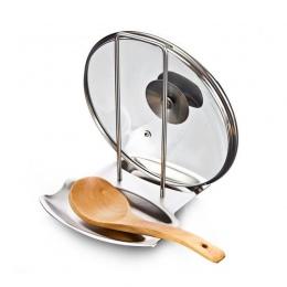 Organizer do kuchni pokrywka garnka stojak ze stali nierdzewnej uchwyt łyżki pokrywka garnka półka gotowanie stojak na naczynia