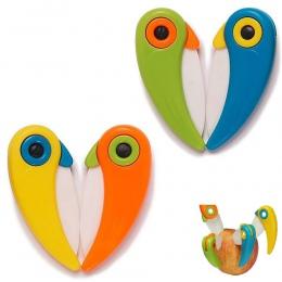Piknik obierak Mini ptak cięcia kawałek owoc sztućce kieszonkowe Pare skórki składany nóż do cięcia torba box warzyw ostrze kuch