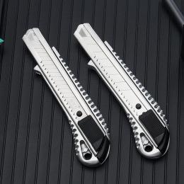 1 PC stal nierdzewna nóż luksusowe metalowe tapety nóż uchwyt papieru kuter nóż do cięcia narzędzia biuro szkolne