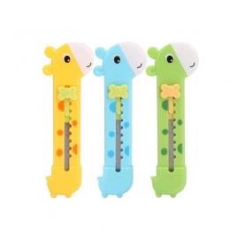 Śliczne żyrafa Utility nóż gilotyna do cięcia papieru cięcia papieru żyletka materiały biurowe Escolar Papelaria School Supply