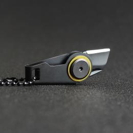 Najwyższej jakości Mini na zamek błyskawiczny nóż nóż na zewnątrz Survival EDC gadżet brelok wisiorek kieszonkowy nóż