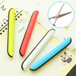 Rzemiosła przenośne nożyczki do cięcia papieru składane bezpieczeństwa nożyczki mini papiernicze nożyczki biurowe i szkolne ręcz