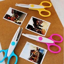 Metalowe i plastikowe DIY Scrapbooking zdjęcie nożyczki pamiętnik papieru dekoracji koronki fala koronki krawędzi nożyczki do pa