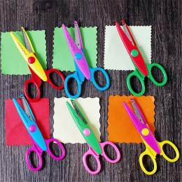 6 sztuk nożyczki Laciness Metal i z tworzywa sztucznego DIY Scrapbooking zdjęcie kolory nożyczki pamiętnik papieru dekoracji kor