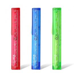 Kreatywny wielofunkcyjny składane nożyczki z 10 cm linijka, Craft nożyczki do cięcia papieru cukierki kolorowy nóż szkolne mater