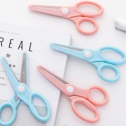 1 sztuk kreatywny bezpieczeństwa dzieci nożyczki do papieru ze stali nierdzewnej papiernicze nożyczki biurowe szkoła ręcznie cię