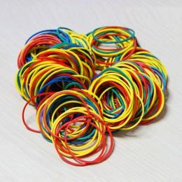 100 sztuk/paczka kolorowy natura opaski gumowe 38mm szkoła biurowe domu guma pasmo modny biurowe pakiet posiadacze