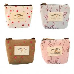 Maison Fabre portmonetka kobieta mała torebka płócienna portfel na zamek pani monety Case torba torebka brelok