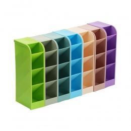 1 pc z tworzywa sztucznego organizer na biurko pulpit długopis biurowy pojemnik na ołówki organizer na kosmetyki taca pudełko na