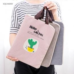 Kreatywny ręcznie torba na dokumenty na płótnie prosty styl projektowania Zipper ołówek torby dziewczyny torebka studentów uchwy