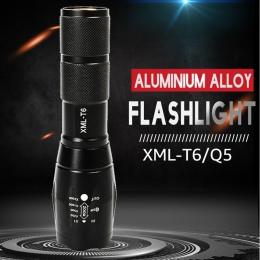 Latarka LED XML-T6 latarka taktyczna Q5 mini latarka wodoodporny worek latarka oświetlenie zewnętrzne latarka UV Scorpion