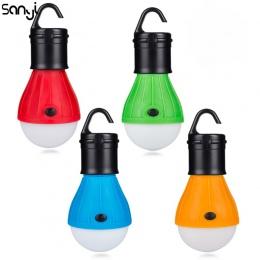 Mini przenośna latarnia oświetlenie namiotu żarówka LED lampa awaryjna wodoodporna hak do zawieszania latarka na Camping 4 kolor