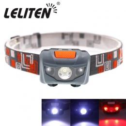 Mini reflektor 4 tryb, lekka, wodoodporna, LED Head light Camping Head lampa podróżna mini wycieczka reflektor bateria AAA
