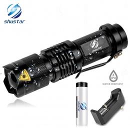 Mini latarka LED 4000LM Q5 T6 latarka LED regulowany zoom ostrości lampa błyskowa lampa używają 14500 i 18650 bateria daj prezen