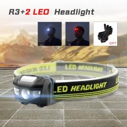 ANYIGE Mini reflektor 4 tryb wodoodporny 600Lm R3 + 2 LED latarka Super jasny reflektor latarka Lanterna używać bateria AAA