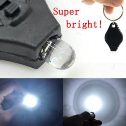 2 sztuk Mini kieszonkowy brelok latarka Micro LED wycisnąć światła na zewnątrz Camping Ultra jasne klucza awaryjnego pierścień l