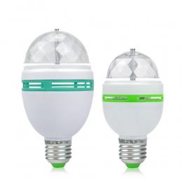 E27 3 W 6 W kolorowe, automatyczne obracanie RGB żarówka LED etap światła efekt Party lampa światła dyskotekowego do oświetlenie