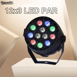 LED Par 12x3 w RGBW z DMX512 dla klubu disco DJ aktywowane dźwiękiem kula dyskotekowa etap światła Lumiere bożonarodzeniowy proj