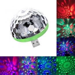 Mini USB led oświetlenie imprezowe przenośny kryształ magia piłka strona główna Karaoke dekoracje kolorowe etapie oświetlenie dy
