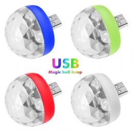 USB Mini Disco światła, przenośny domowy oświetlenie na imprezę, DC 5 V USB zasilany energią słoneczną doprowadziły etap Party B