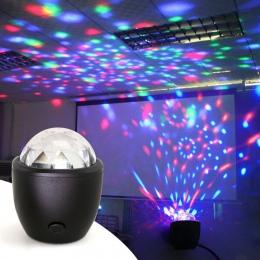 LED USB Mini aktywowane głosem kryształ magia piłka doprowadziły etap kula dyskotekowa żarówka jak oświetlenie imprezowe Flash ś