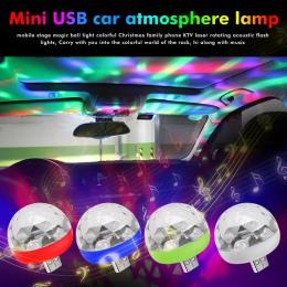Mini USB LED Disco etap światła przenośne rodzina Party magiczna kula lampa kolorowa Bar Club etap efekt lampa dla telefonu komó