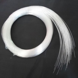 Hot sprzedaży 50 ~ 500 sztuk X 0.5mm X 2 Meter koniec glow PMMA kabel światłowodowy dla gwiazda światła sufit darmowa wysyłka