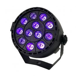 LED światła etapie efekt 12x3 W ultrafioletowe kolor płaskie Par DMX512 DJ Disco lampa KTV Bar Party podświetlenie wiązki projek