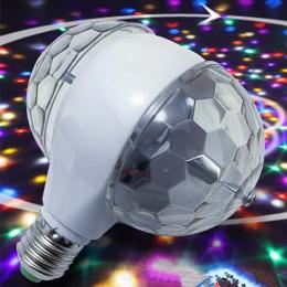 YIYANG LED 6 W obrotowe światła żarówki z podwójną głowicą magia etap lampa Disco obrotowy dwugłowy RGB światła sceniczne luces