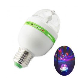 E27 3 W LED etapie u nas państwo lampy automatyczne obracanie projektor RGB kryształ Magic Ball sceniczne laserowe efekt światła